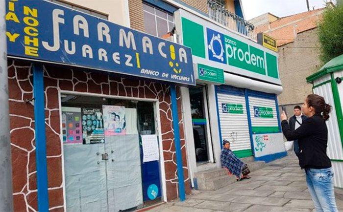 El Gobierno procede a clausurar farmacias que cerraron sus puertas