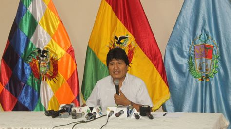 El presidente Evo Morales informe sobre los resultados del gabinete ampliado. Foto: ABI