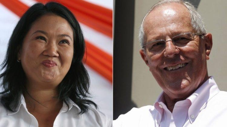 Keiko Fujimori y Pedro Kuczynski (AP – Reuters)