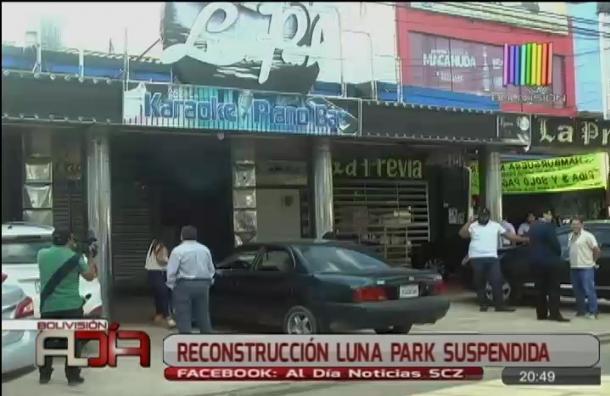 Reconstrucción Luna Park suspendida