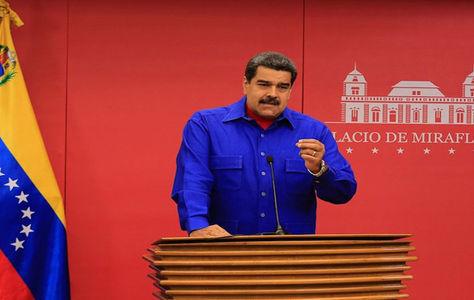 El presidente de Venezuela, Nicolás Maduro, en el Palacio Miraflores en Caracas.