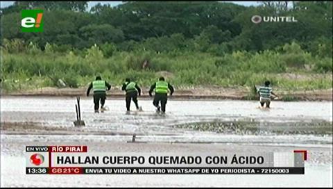 Hallan cadáver de un hombre por el río Piraí