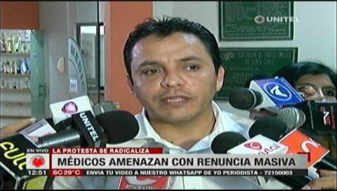 Santa Cruz: Médicos amenazan con renuncia masiva y de no suministrar anestesia a pacientes