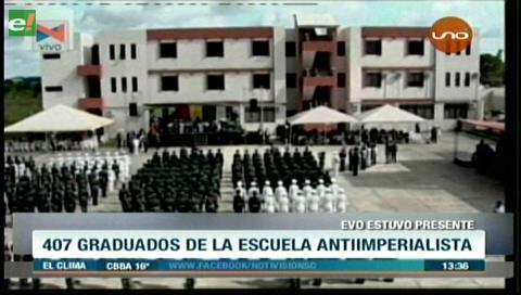 Gradúan a 407 oficiales de la Escuela Antiimperialista