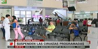 Santa Cruz: Médicos suspenderán cirugías programadas como medida de presión