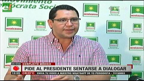Monasterio pide a Morales sentarse a dialogar con los médicos