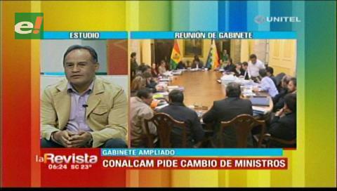 Bonifaz explica el pedido de la Conalcam sobre el cambio de ministros
