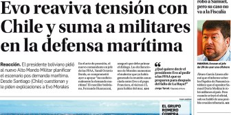 Portadas de periódicos de Bolivia del martes 12 de diciembre de 2017
