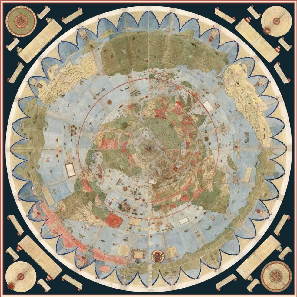 FOTOGALERÍA: El mapamundi de Urbano Monte reconstruido por la Universidad de Stanford.