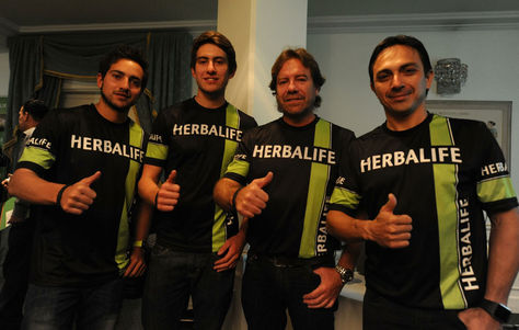 (De izq. a der.) Wálter Junior, Daniel Nosiglia, Wálter Nosiglia y Juan Carlos Salvatierra; parte del Team Bolivia. Foto: Archivo La Razón