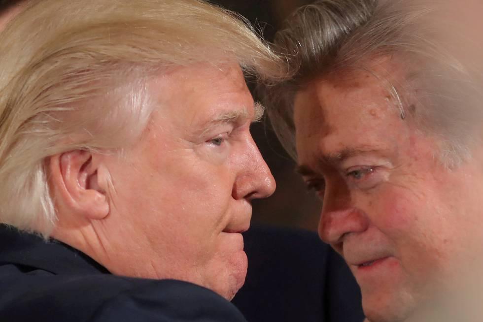 Trump y Bannon, en enero en la Casa Blanca