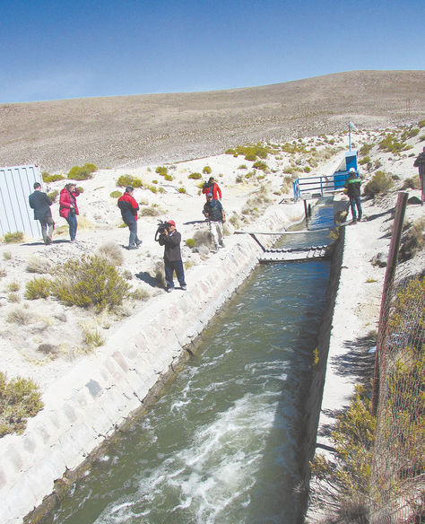 En 2016, una misión boliviana llegó hasta el territorio chileno donde se desvió el curso del río Lauca.
