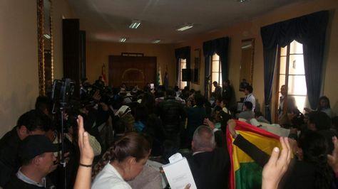 Sesión de la Cámara de Diputados en el Palacio de la Revolución.