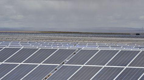 Los paneles solares instalados en Uyuni. Foto:Ministerio de Comunicación