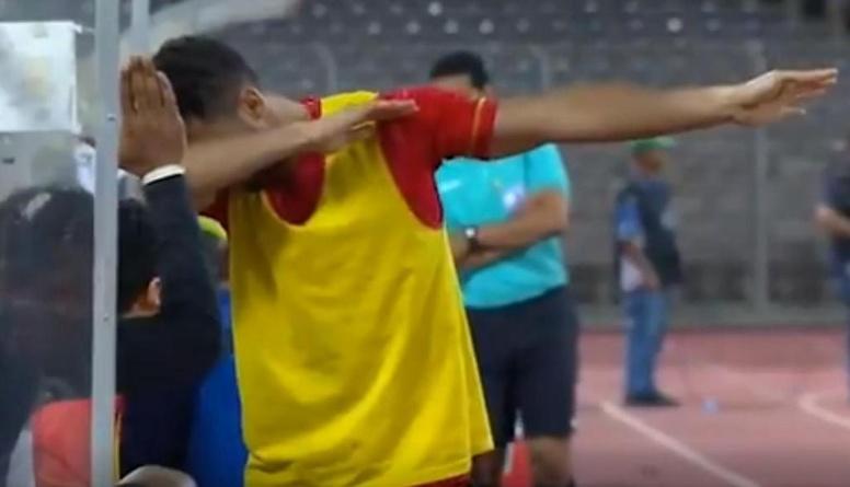 Resultado de imagen para Un futbolista podría ser arrestado por hacer la celebración del