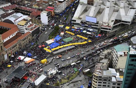 Es la cuarta vez que Bolivia es sede de la competencia. En la imágen el paso del Dakar en La Paz la pasada gestión. Foto: La Razón, archivo