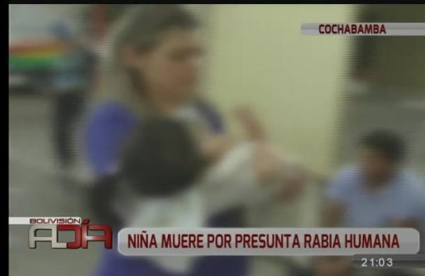 Investigan muerte de niña por rabia humana