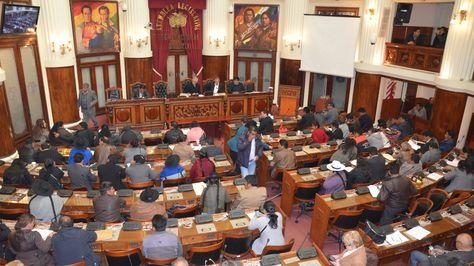 Sesión del Legislativo. Foto: Cámara de Senadores