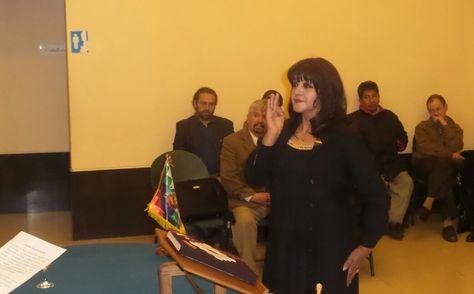 Piza es posesionada como nueva autoridad de la Orquesta Sinfónica Nacional. Foto: Dennis Luizaga