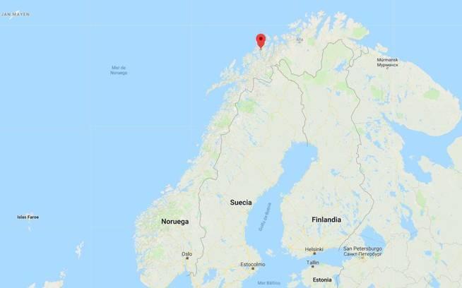 Localización de Tromsø, Noruega. (Google Maps)