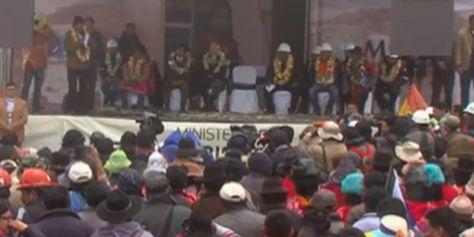 El presidente Evo Morales inauguró obras de trasvase para garantizar agua a La Paz
