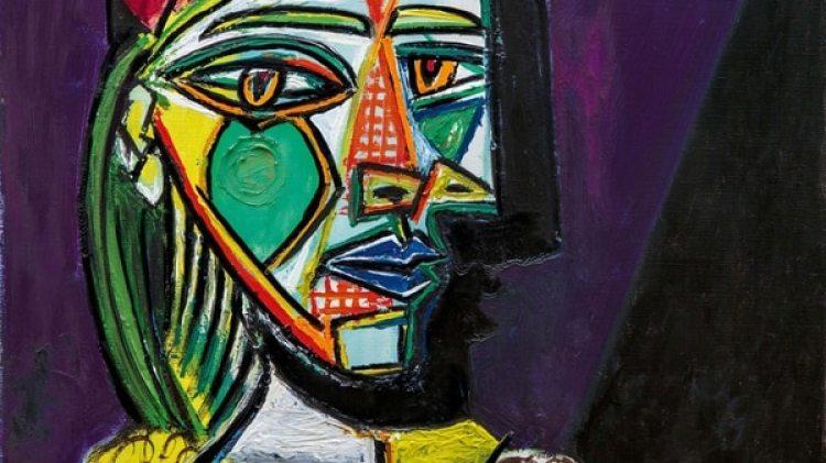 """El malagueño pintó el cuadro, """"Mujer con boina y vestido de cuadros"""", el 4 de diciembre de 1937, poco después de """"Guernica"""" y """"La mujer que llora"""", explica la casa de subastas en una nota"""
