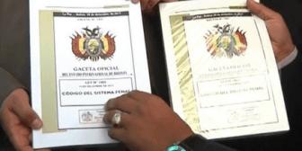 La Paz: Venden un Código Penal falso