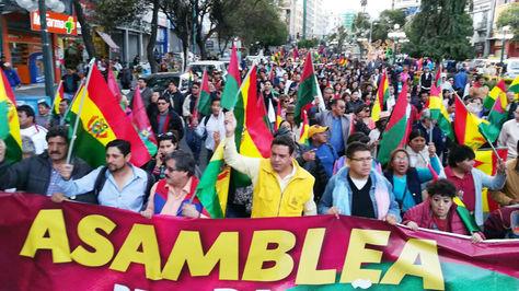 El alcalde Luis Revilla encabezó la movilización cívica en la ciudad de La Paz