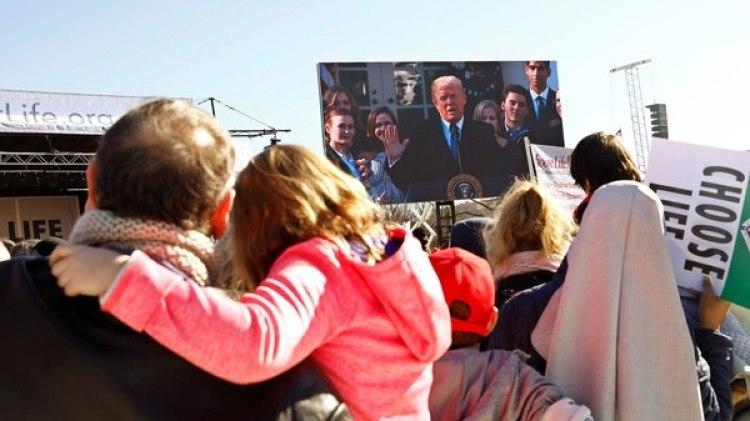 """Donald Trump habló ante los manifestantes """"pro-vida"""" en Washington (Reuters)"""