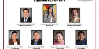 Eligen directiva de la Cámara de Diputados de Bolivia 2018-2019