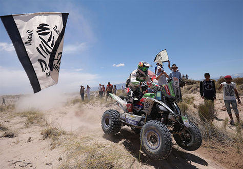 El chileno Ignacio Casale durante la décima etapa del Rally Dakar 2018, entre Salta y Belén, en Catamarca (Argentina).