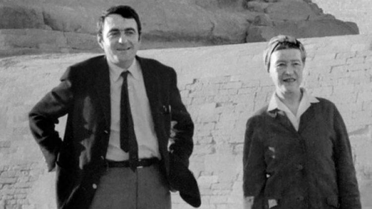 Simone de Beavoir y Claude Lanzmann (AFP)