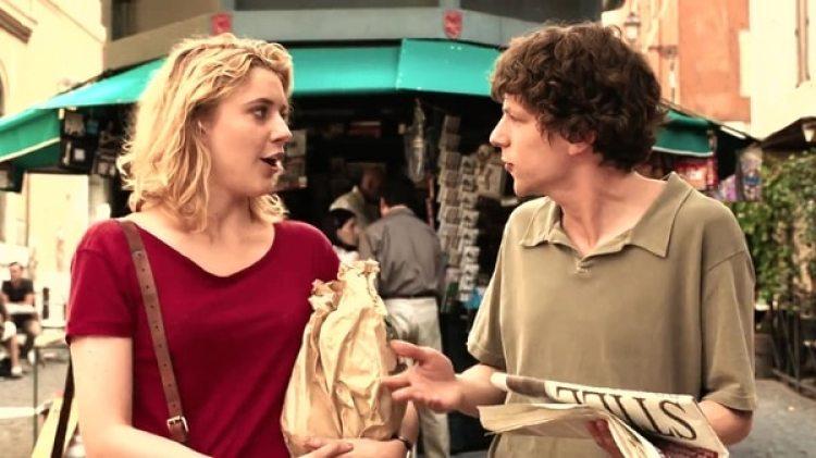 """Greta Gerwig en la película """"A Roma con Amor"""""""