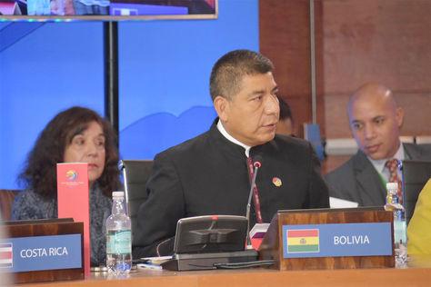 El canciller Fernando Huanacuni participa en la segunda Reunión del Foro Ministerial de la (Celac)-China