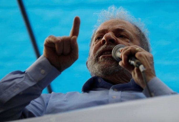 Lula da Silva durante el acto en Porto Alegre (REUTERS/Paulo Whitaker)