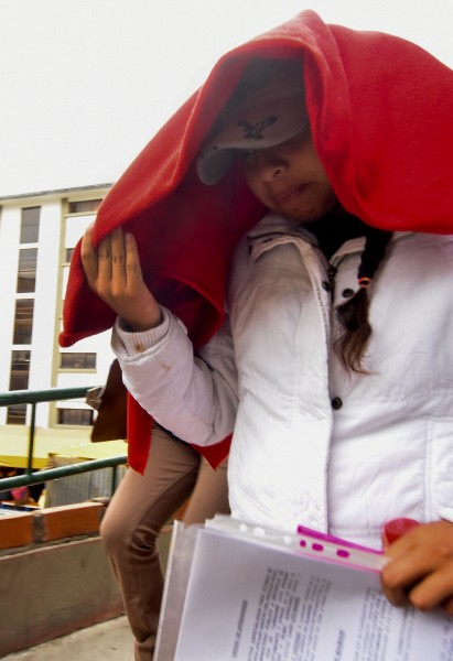 Priscila Chuquimia, abandona la FELCC. (APG)