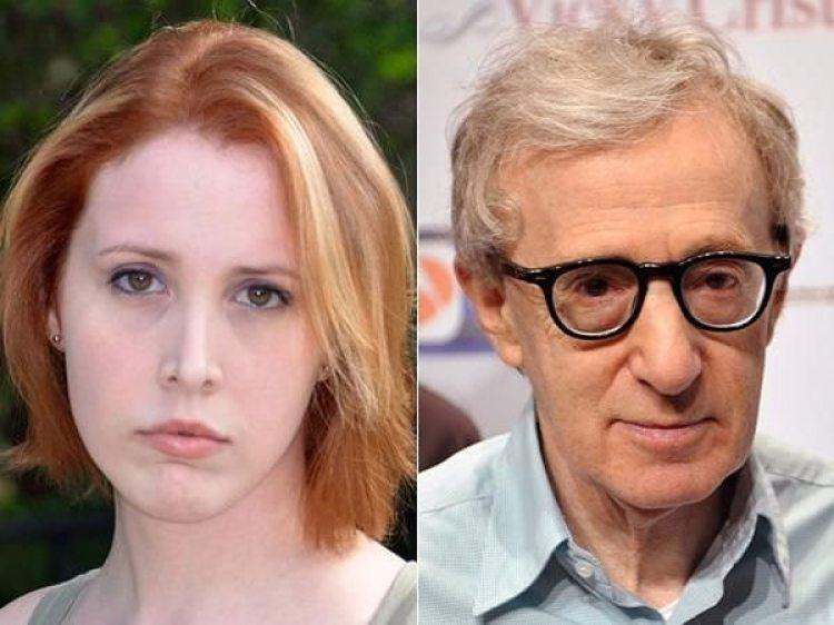 Dylan Farrow y Woody Allen.