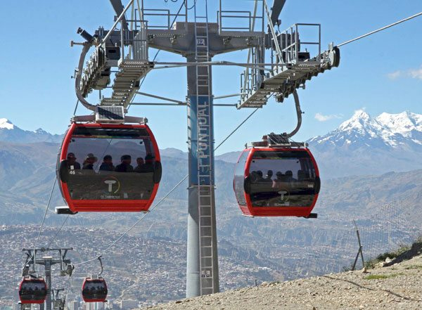 La segunda fase del transporte por cable iniciará en mayo y junio en las ciudades de La Paz y El Alto.
