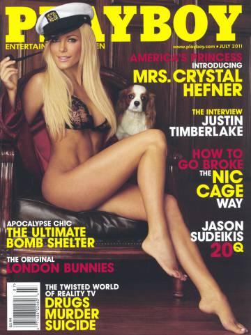 Crystal Harrys en una portada de
