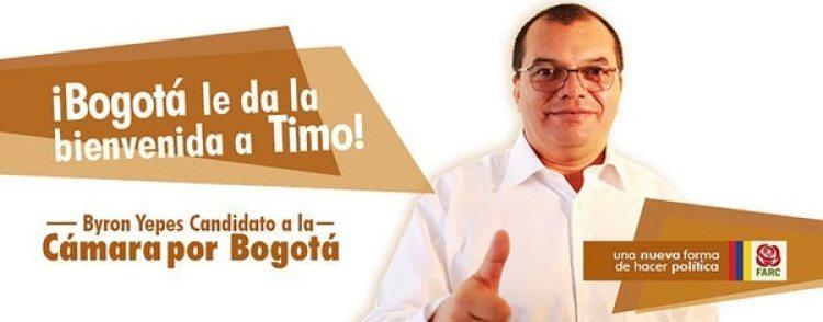 Jairo González Mora, alias Byron Yepes, es candidato a pesar de las denuncias
