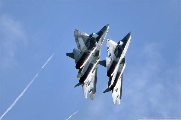 Dos cazas rusos