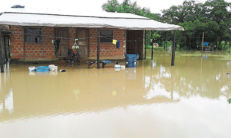 Daños. Las consecuencias en casas del municipio de Loreto, en Beni. Foto: COE Beni