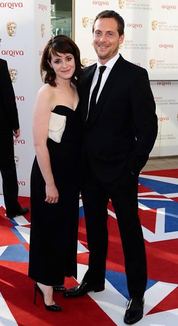 Claire Foy y su marido Stephen Campbell Moore en Londres en 2012.