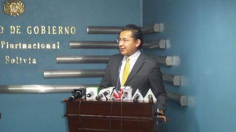 Conferencia de prensa del director de Dircabi, Marcelo Gutierrez.