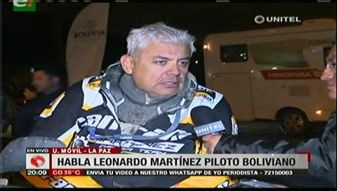 Ministros critican las declaraciones del piloto Leonardo Martínez