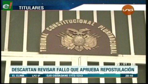Video titulares de noticias de TV – Bolivia, noche del martes 23 de enero de 2018