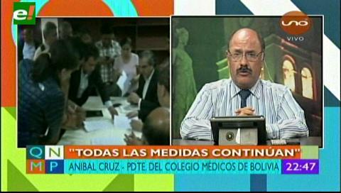 Anibal Cruz: Los médicos demandan la abrogación de la reforma del Código Penal boliviano