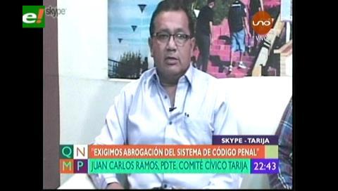 Civcos y gremiales van al paro en Tarija por la abrogación del Código Penal