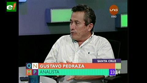 """Gustavo Pedraza: """"Hay una paranoia en la política, la sociedad ya no le cree al presidente"""""""