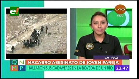 Fiscalía tipifica de asesinato y feminicidio el caso de la pareja victimada en La Paz